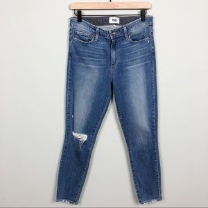 PAIGE | Hoxton Crop High Rise Skinny Jeans Size 28